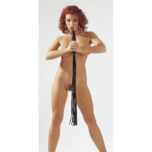 Latex-Peitsche mit Penisgriff