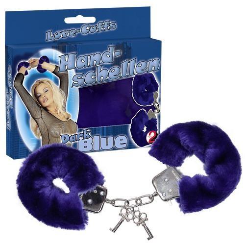 Plüschhandschellen blau