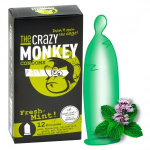 THE CRAZY MONKEY CONDOMS - TCMC Fresh-Mint! 12er - Kondome
