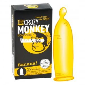 THE CRAZY MONKEY CONDOMS - Banana! 12er - Kondome