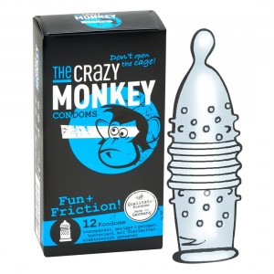 THE CRAZY MONKEY CONDOMS - Fun + Friction! 12er - Kondome
