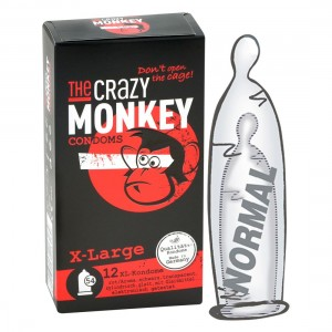 THE CRAZY MONKEY CONDOMS - X-Large! 12er Kondome