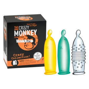 THE CRAZY MONKEY CONDOMS - Crazy Collection! 100er - Kondome