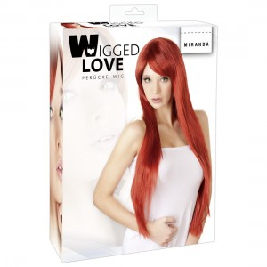Wigged Love - Perücke Miranda rot, lang, glatt