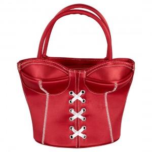 Korsett-Handtasche rot - Handtasche