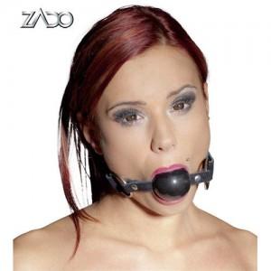 ZADO - Leder Mundknebel schwarz