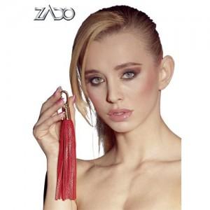 ZADO - Leder Minipeitsche rot
