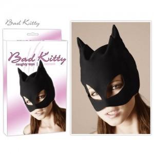 Bad Kitty - Kopfmaske - Katzenmaske -schwarz