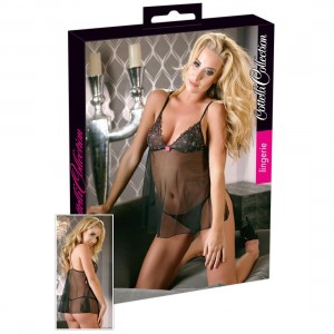 Cottelli Collection Lingerie - Babydoll schwarz