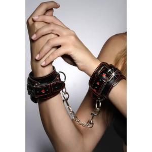 7Heaven schwarz-rote Handfessel A7798 von 7-Heaven