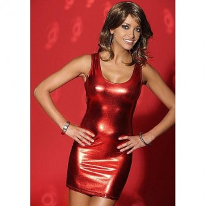 De Namour Lingerie - Short Dress - Minkleid rot