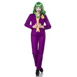 Mask Paradise - Lady Joker Kostümset - grün-gelb-lila