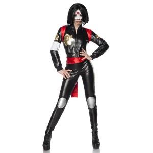 Mask Paradise - Suicide Samurai Kostümset - schwarz-rot
