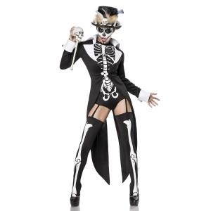 Mask Paradise - Voodoo Priestess Komplettset - schwarz-weiß