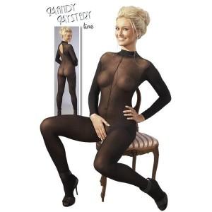 Mandy Mystery Line - Catsuit ouvert mit Spitzenkragen